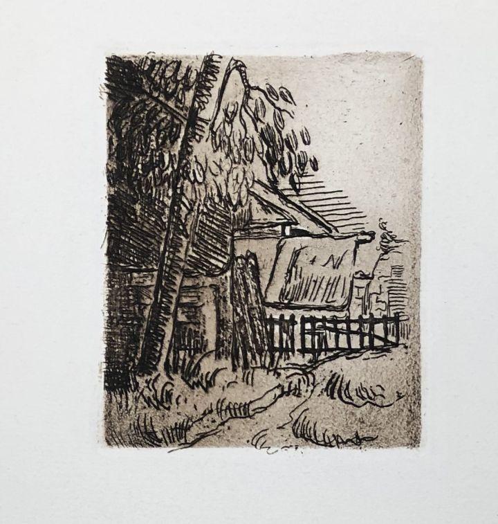 Eau-Forte Cezanne - Paysage à Auvers
