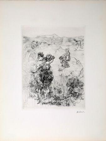Gravure Bellmer - Paysage 1800