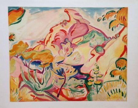 Lithographie Friesz - Paysage a la Ciotat