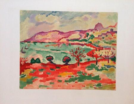 Lithographie Braque - Paysage A L'estaque Lithographie