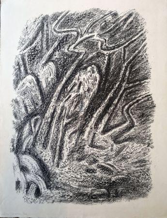 Lithographie Masson - Paysage au Cascatelles