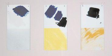 Sérigraphie Buraglio - Paysage avec un nuage rouge/Hommage à Mondrian