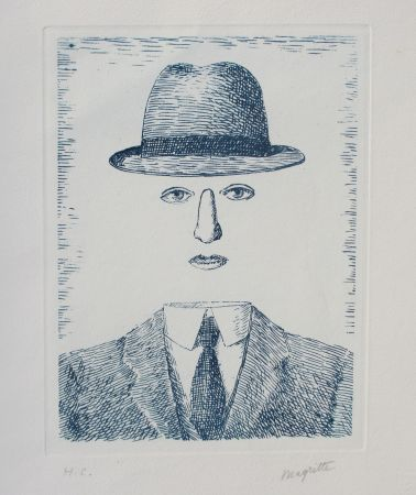 Eau-Forte Magritte - Paysage de Baucis