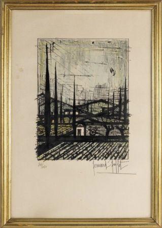 Lithographie Buffet - Paysage de Provence