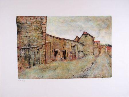 Lithographie Gantner - Paysage du Jura - Landscape of the Jura