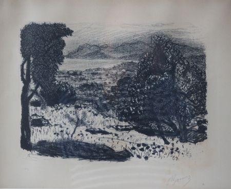 Lithographie Bonnard - Paysage du Midi