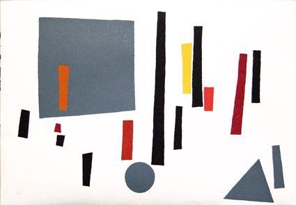 Sérigraphie Goeritz  - Paysage géométrique