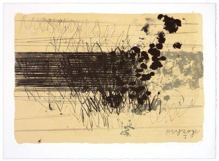 Lithographie Denning - Paysage I
