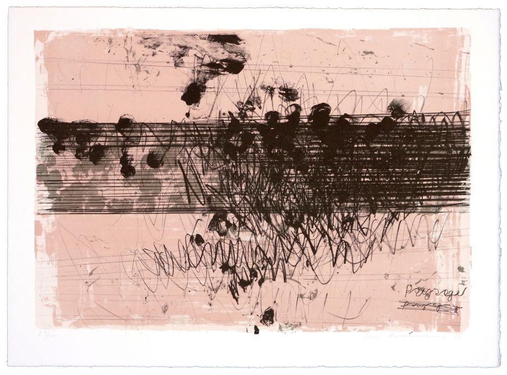 Lithographie Denning - Paysage II