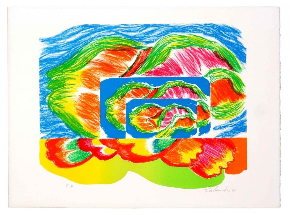 Lithographie Tabuchi - Paysage II