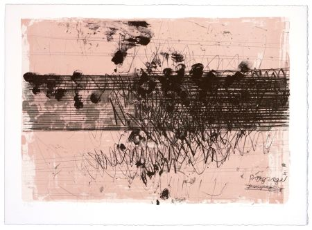 Lithographie Denning - Paysage II