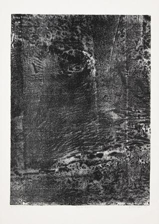 Lithographie Dubuffet - Paysage japonais