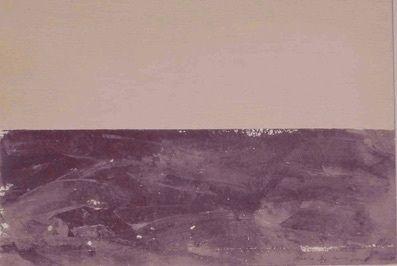 Sérigraphie Buraglio - Paysage plat