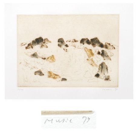 Eau-Forte Et Aquatinte Music - Paysage rocheux