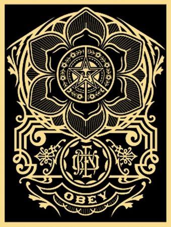 Sérigraphie Fairey - Peace Ornament