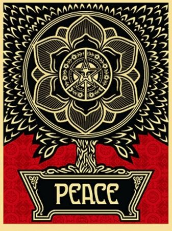 Sérigraphie Fairey - Peace Tree