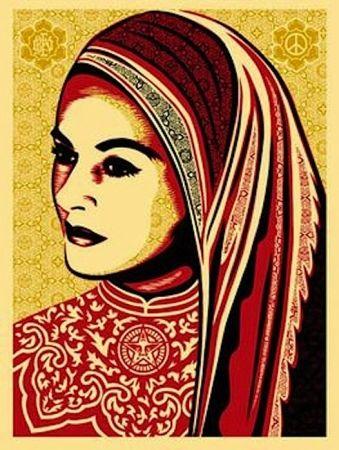Sérigraphie Fairey - Peace Woman