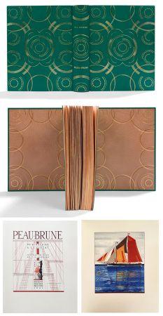 Livre Illustré Schmied - PEAU-BRUNE. De St-Nazaire à La Ciotat. Journal de bord de F.-L. Schmied. Dans une reliure décorée de Semet et Plumelle.