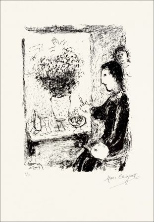 Lithographie Chagall - Peintre