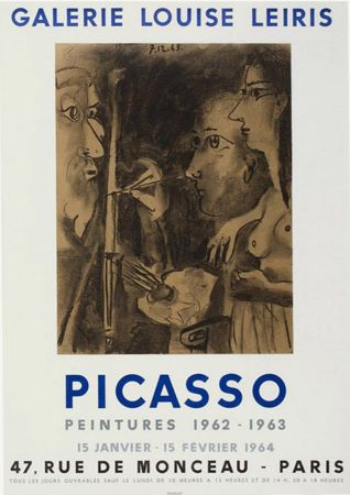 Lithographie Picasso - '' Peintures 1962 - 1963 ''