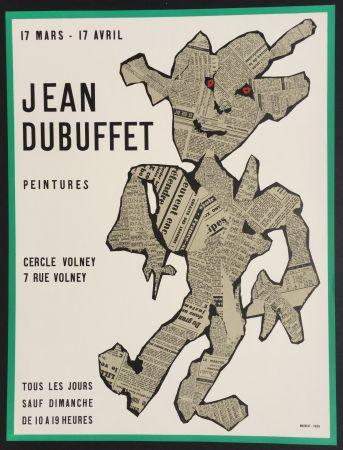 Lithographie Dubuffet - Peintures, Cercle Volney
