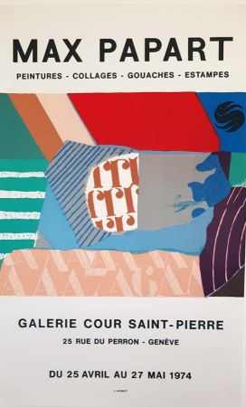 Lithographie Papart - Peintures Collages  Gouaches  Estampes Galerie Cour St Pierre