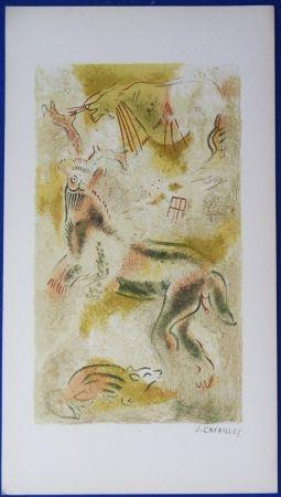 Lithographie Cavailles - Peintures rupestres