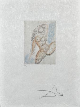 Gravure Dali - Peite Nus (Ronsard) E
