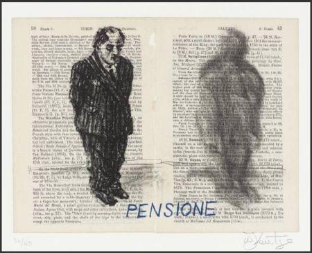 Lithographie Kentridge - Pensione from Untitled Baedecker portfolio