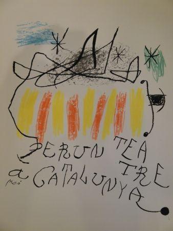 Lithographie Miró - Per un teatre a Catalunya