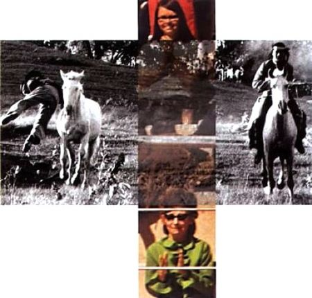 Aucune Technique Baldessari - Person On Horse And Person Falling From Horse