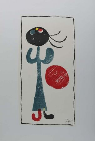 Lithographie Miró (After) - Personaje