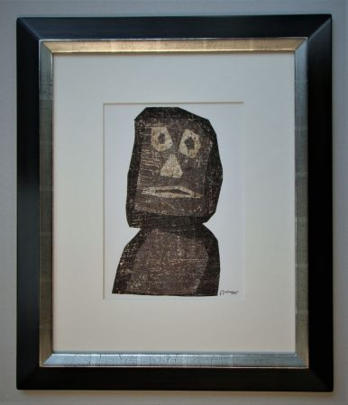 Lithographie Dubuffet - Personnage