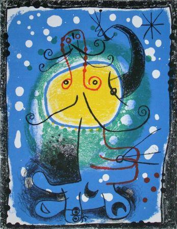 Lithographie Miró - Personnage