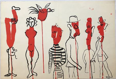 Lithographie Calder - Personnages II (1966)