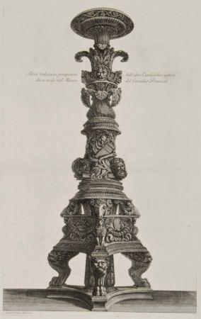 Gravure Piranesi - Perspectiva de candelabro