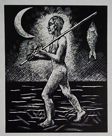 Lithographie Llimos - Pescador