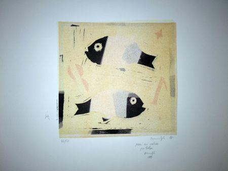 Linogravure Manfredi - Pesci