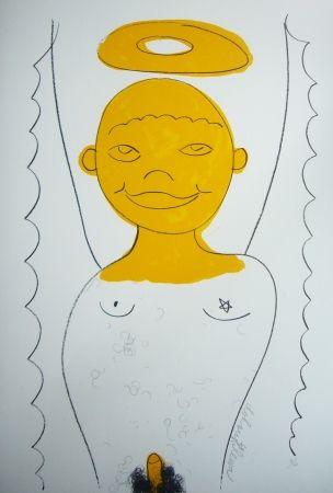 Lithographie Dokoupil - Petit ange 3