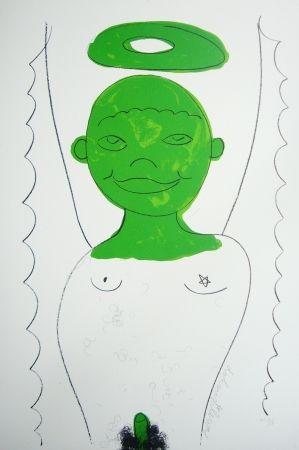 Lithographie Dokoupil - Petit ange 4