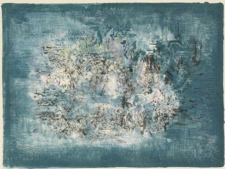 Lithographie Zao - Petit Jardin