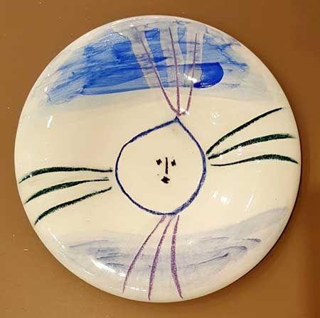 Céramique Picasso - Petit visage