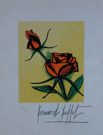 Lithographie Buffet - Petites Roses
