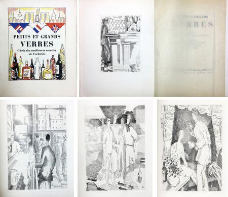 Livre Illustré Laboureur - PETITS ET GRANDS VERRES. Choix des meilleures recettes de Cocktails, recueilli par Nina Toye et A. H. Adair. Gravures et dessins de J.-E. Laboureur.