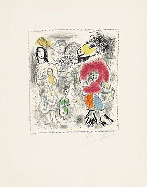 Lithographie Chagall - Petits paysans II (Kleinbauern II)