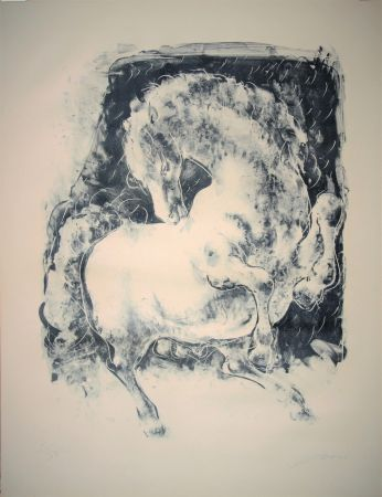 Lithographie Erni - Pferd