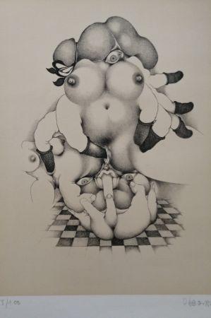 Lithographie Daboval - Phantasmes de Berthe 2