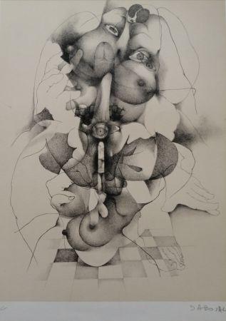 Lithographie Daboval - Phantasmes de Berthe 3