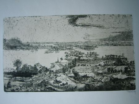 Gravure Nicklas - Phantastische Landschaft