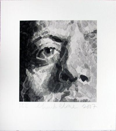 Sérigraphie Close - Phil (detail)